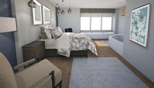 Saint Peters Mary V OShea Birth Center bedroom